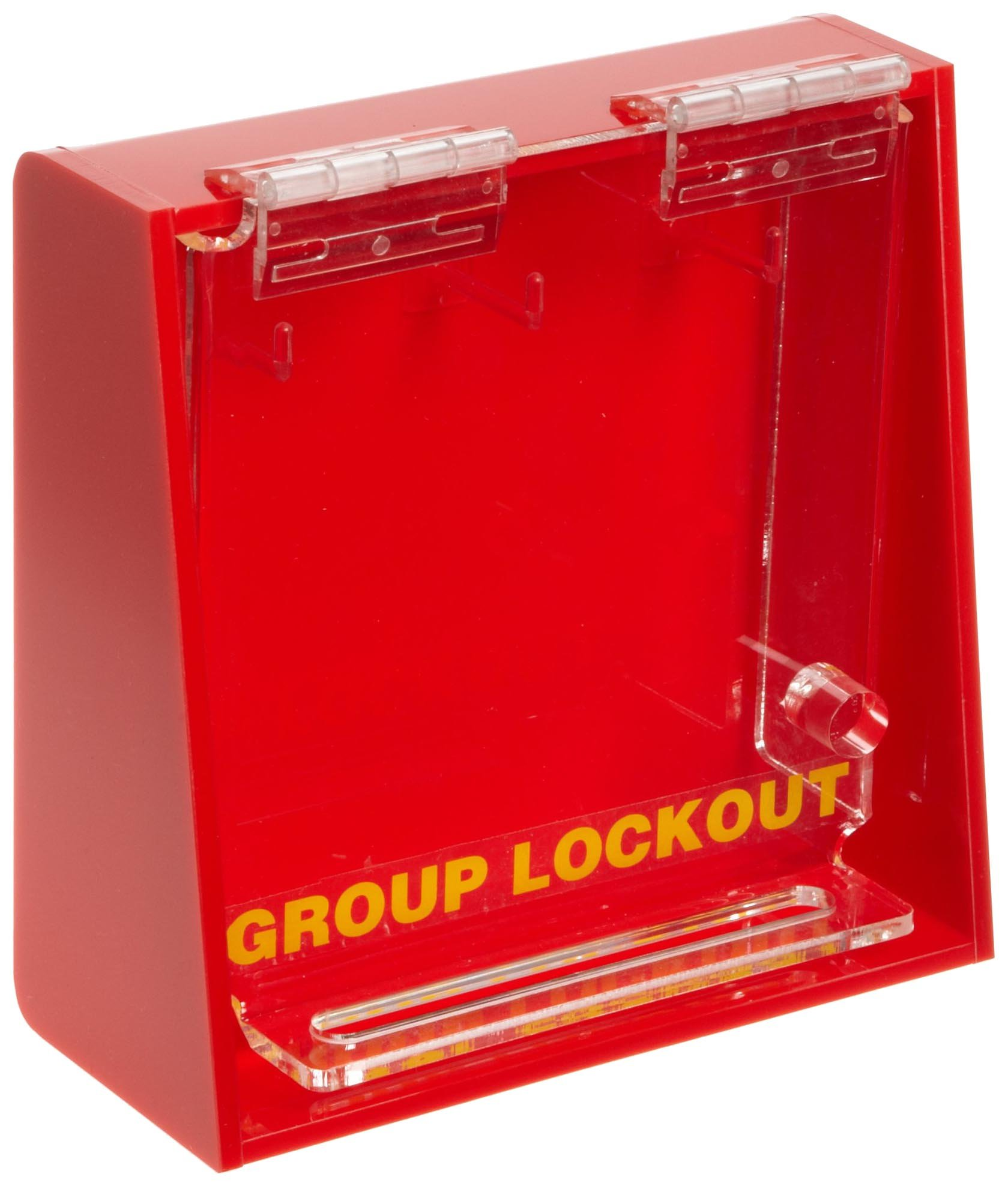 Brady Acrylic Plastic Wall-Mount Group Lock Box for Lockout/Tagout, Small, 6'' Height, 6'' Width, 2-1/2'' Depth