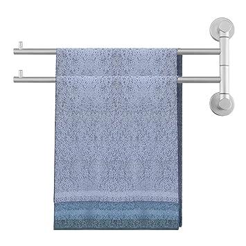 Homdox Portable Toallas de Pared toalleros eléctricos Muebles Baño toallero con 2 Brazos, 6,5 x 18,5 x 40 cm: Amazon.es: Bricolaje y herramientas