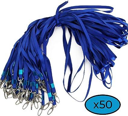 20 cordini Blu con Cordino da Collo per Badge con Clip Porta Tessere