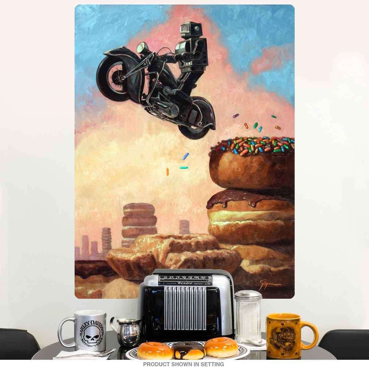 Amazon.com: Robot Motorcycle Donut Dark Rider Again Wall Decal 9 x ...
