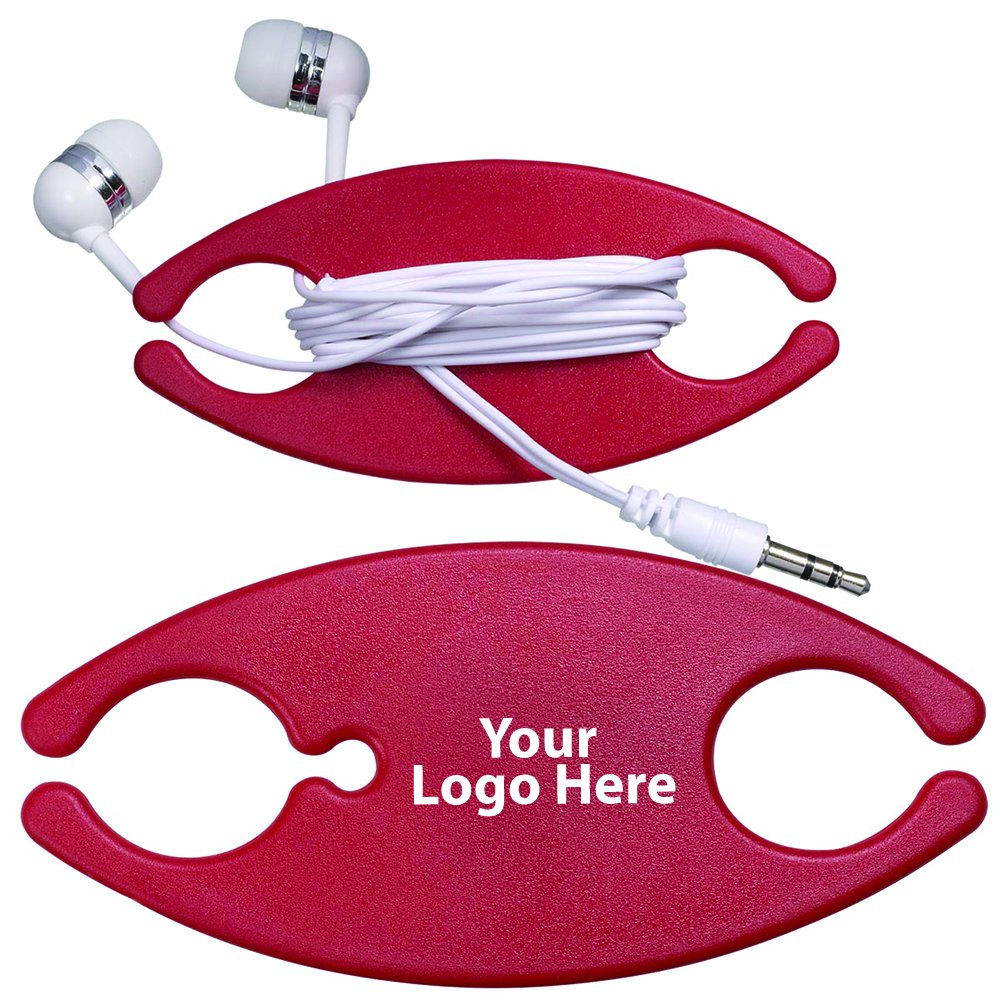 Earbuds On A Caddy - 100 Quantity - $2.15 Each - PROMOTIONAL PRODUCT / BULK / Branded with YOUR LOGO / CUSTOMIZED by Sunrise Identity