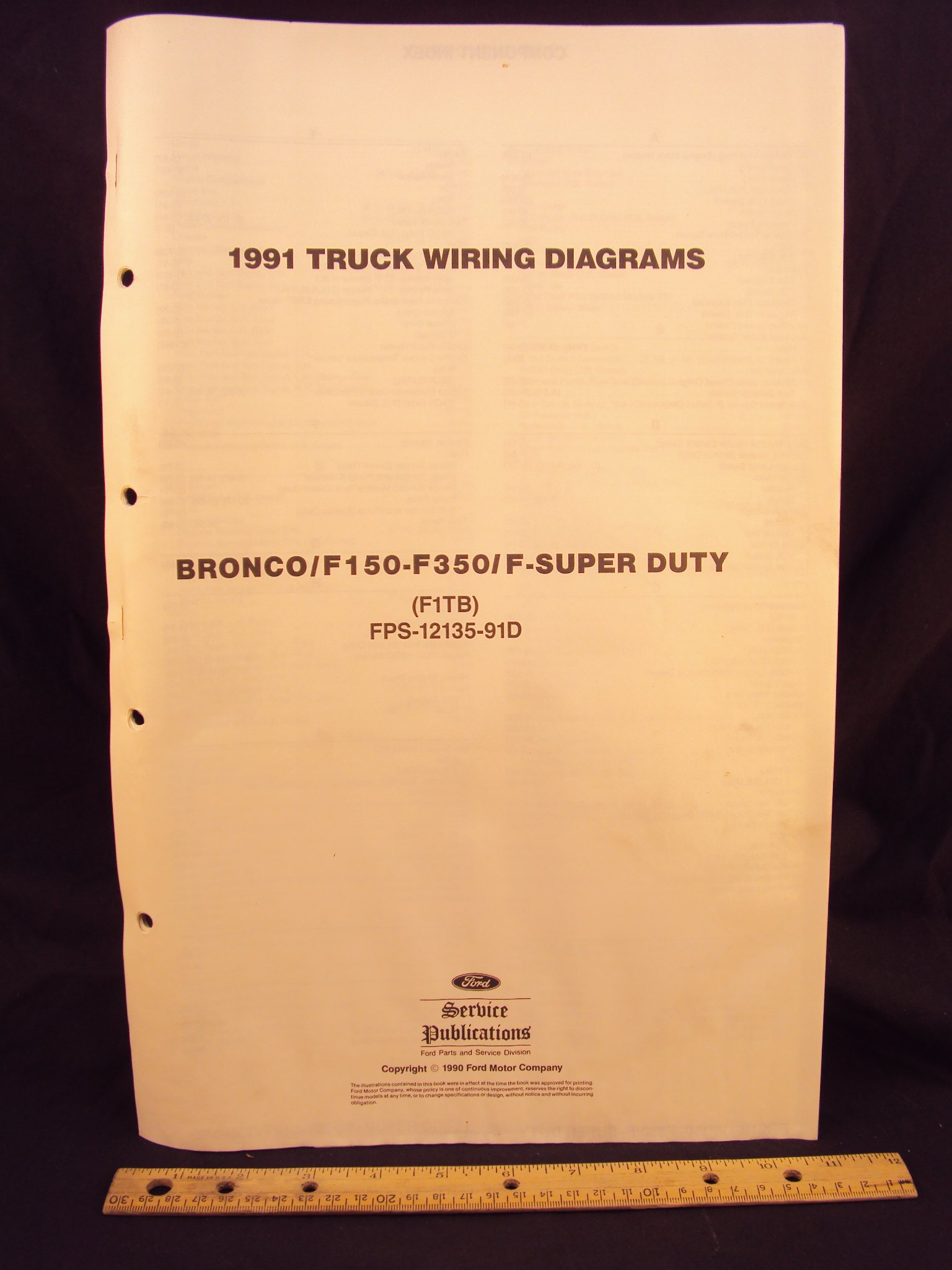 1991 FORD F-150, F250, F350 Series Truck, Bronco, & Super ...  Ford F Wiring Diagram on ford super duty, 1989 ford wiring diagram, ford mirror wiring diagram, 01 dodge 1500 wiring diagram, ford 7 pin wiring diagram, 1987 ford e350 wiring diagram, ford oxygen sensor wiring 1990, ford fairlane wiring diagram, 1956 ford wiring diagram, ford truck electrical diagrams, ford f-350 4x4 wiring diagrams, f250 wiring diagram, 79 ford wiring diagram, ford e 450 wiring diagrams, ford aerostar wiring diagram, ford alternator plug wiring diagram, 86 ford wiring diagram, ford econoline van wiring diagram, ford falcon wiring-diagram, ford electrical wiring diagrams,
