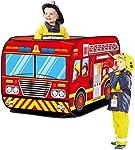 Tente garçon voiture de pompier