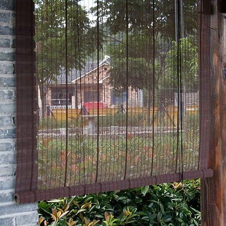 Persiana Estores enrollables Sombras de Bambú Exteriores Exteriores, Pergola Gazebo del Jardín Enrollar Persiana de La Ventana Sombrilla, Tamaño Personalizado - 60 cm / 80 cm / 100 cm / 120 cm / 140 c: Amazon.es: Hogar