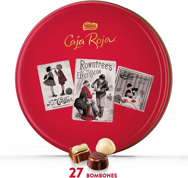 Nestlé Caja Roja Bombones de Chocolate - Lata de bombones 250 gr: Amazon.es: Alimentación y bebidas