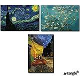 Artangle Fiberboard Sevenrays Vincent Van Gogh Painting Magnets (Standard, Set of 3)