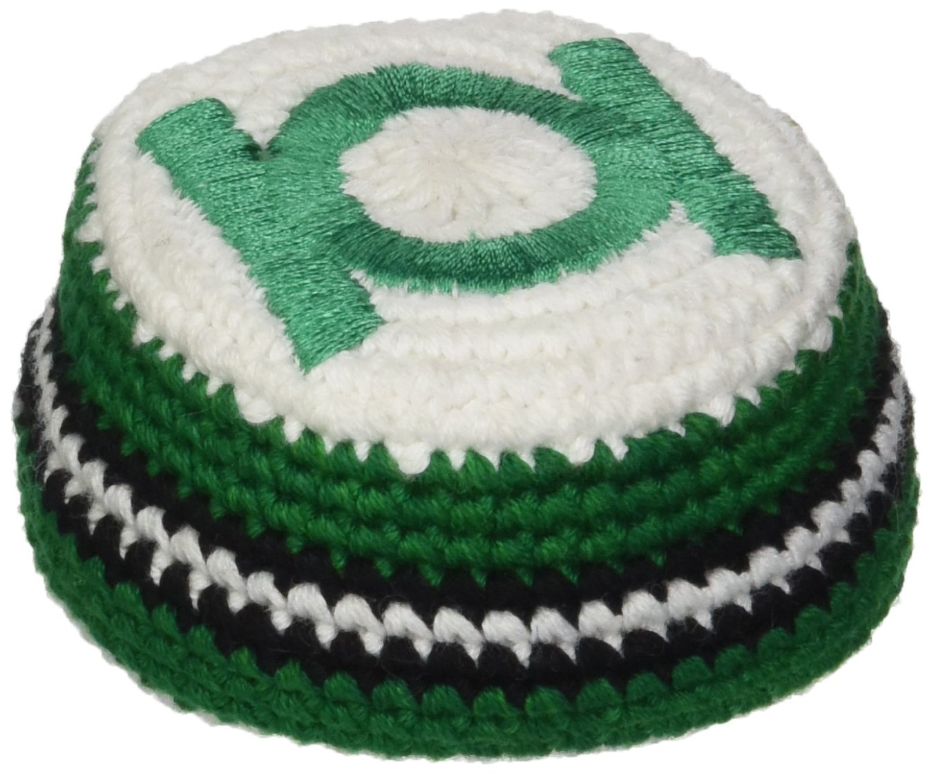 Green Lantern Logo Embroidered Crocheted Footbag
