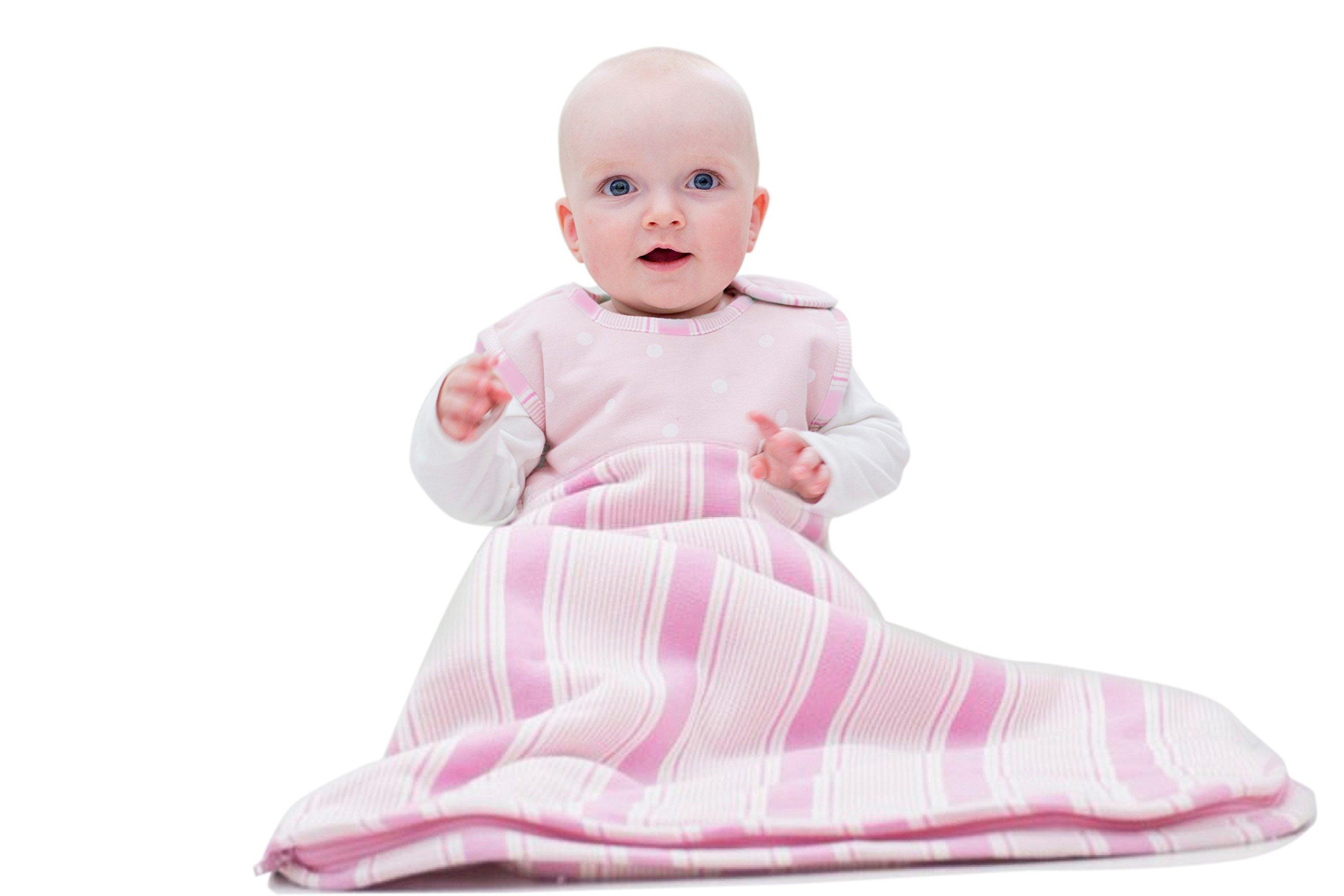 Merino Kids Winter Sherpa-Weight Baby Sleep Bag For Toddlers 2-4 Years, Cherry Blossom