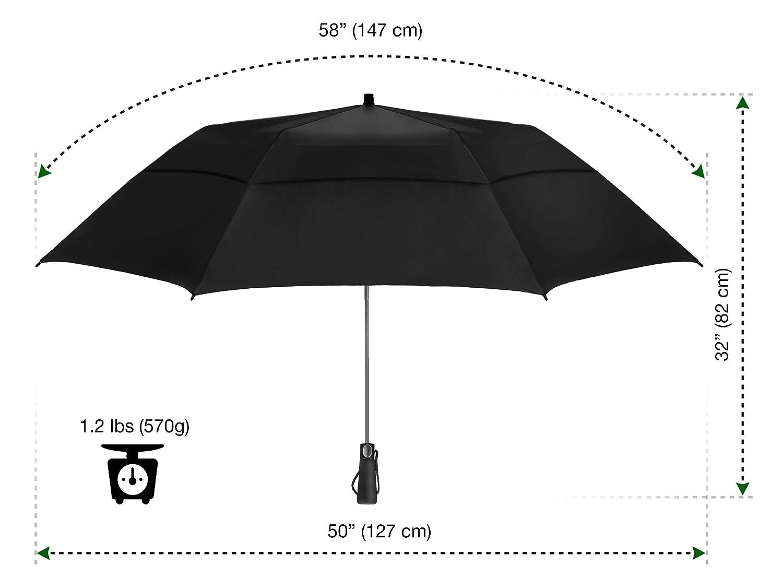eez y folding golf umbrella 58 inch extra large windproof double