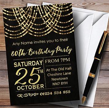 Amazon 10 X Gold Draped Garland 80th Customized Birthday Party