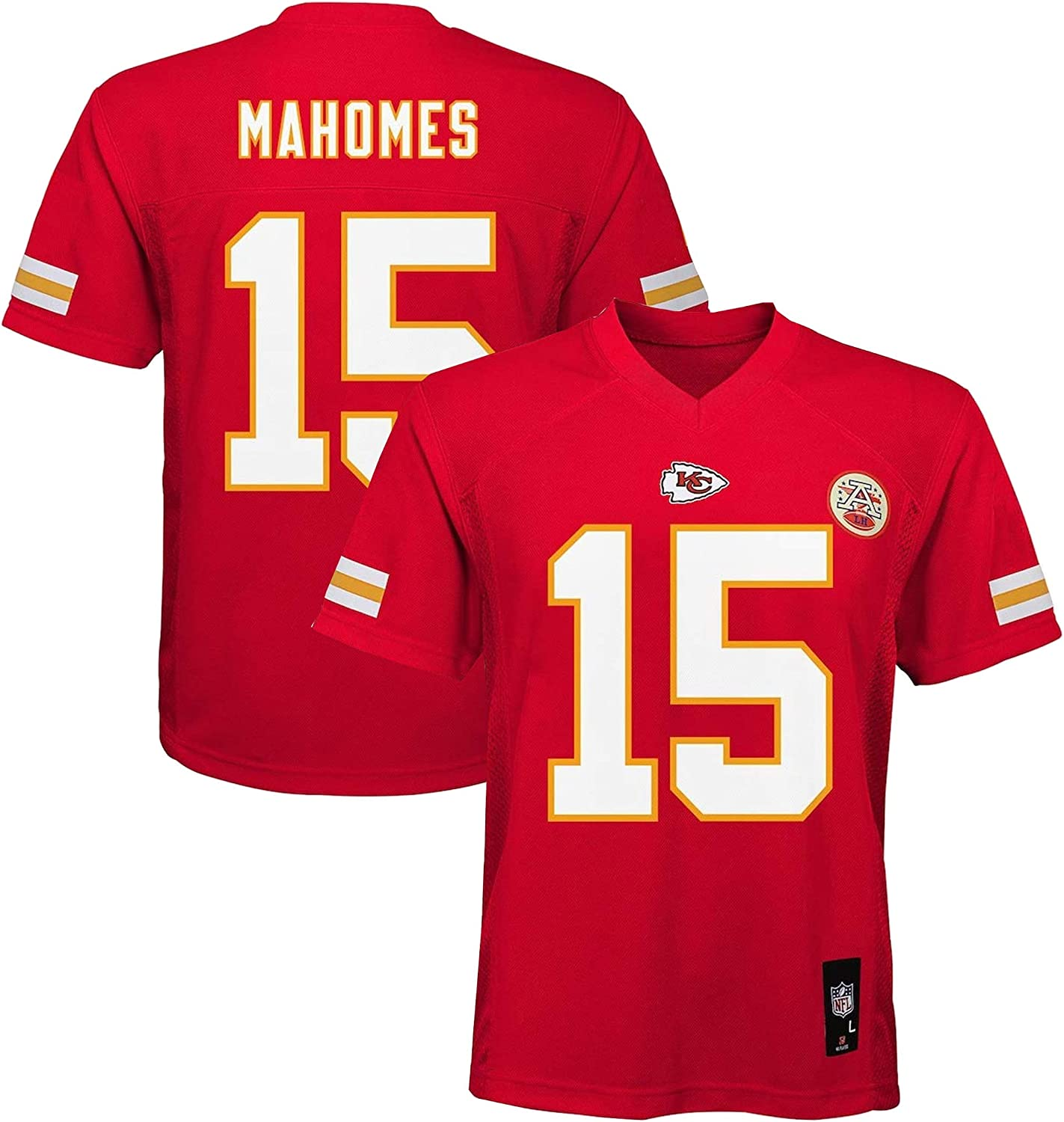 Outerstuff Patrick Mahomes Kansas City Chiefs NFL Toddler 2-4 Red Home Mid-Tier Jersey