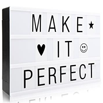 Cinematic Light Sign Box A4 Light Up Box With 90 Letters