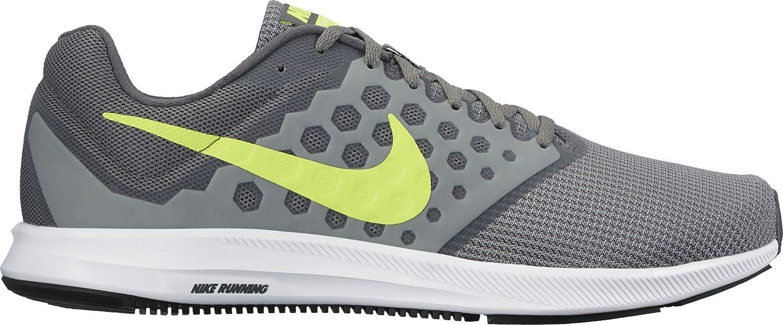 Nike Downshifter 7, Zapatillas de Running para Hombre 45.5 EU|Gris (Cool Grey / Volt / Dark Grey / White)