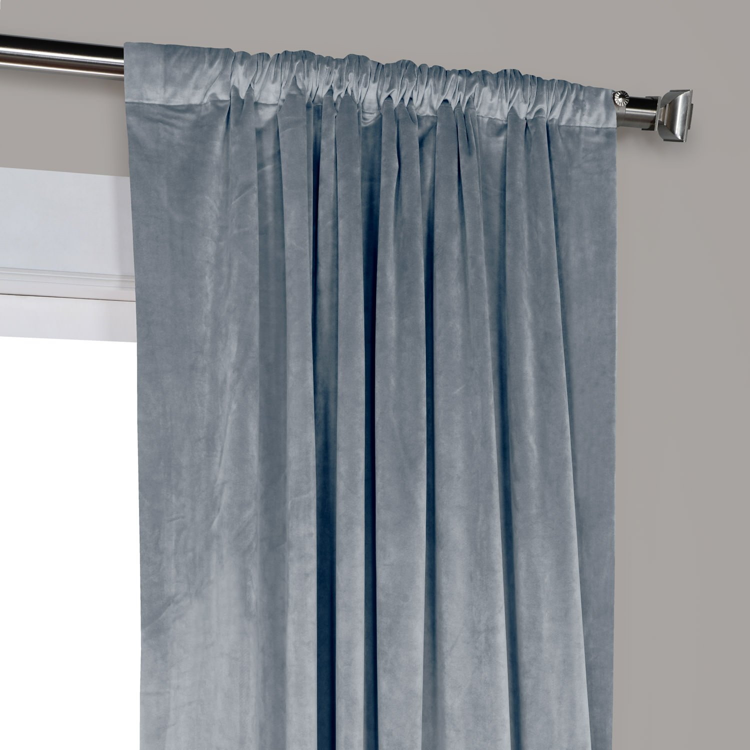 Half Price Drapes VPYC-179921-96 Heritage Plush Velvet Curtain 50 x 96 Deep Sea Teal Exclusive Fabrics /& Furnishings
