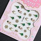 Nail Art 3D Decal Stickers Christmas Decoration QJ-G002g Nail Sticker Tattoo - FashionLife