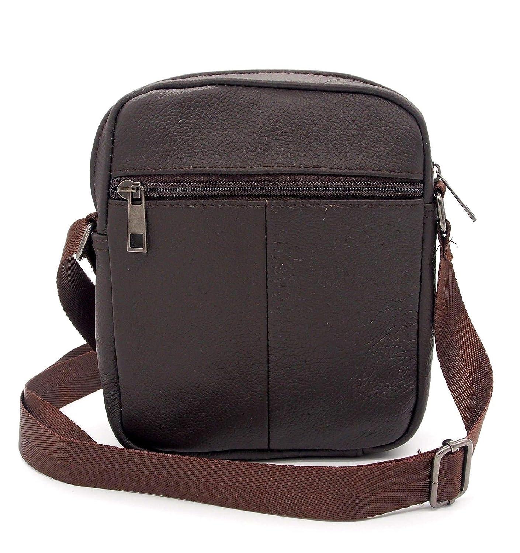 2c4930f2f7 Charmoni Petit Sac pochette sacoche à bandoulière rabat et sa porte clé cuir  - homme femme - en cuir vachette véritable - NEUF