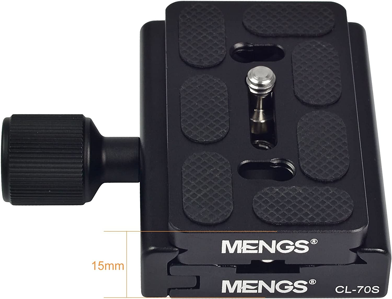 Akai Mengs Abrazadera de CL-50S y placa de liberación rápida para cámara de 1//4 pulgadas Tornillo