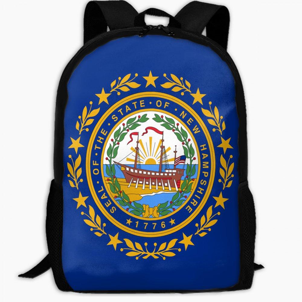 子供の学校バックパックの国旗New Hampshireアウトドア旅行バックパック学生バックパックガールズBookバッグユニセックスショルダーDaypack B07FVSKHRD