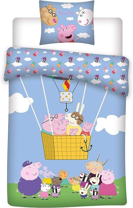BrandMac Peppa Pig Ballon - Juego de Funda nórdica y Funda de ...
