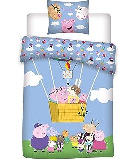 Jerry Fabrics Peppa Pig Dino - Juego de cama infantil (140 x 200 ...