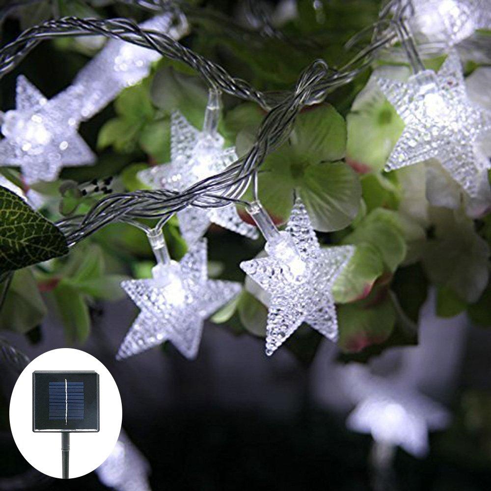 Jaragar Solar String Lights, Outdoor Waterproof String Fairy Lights Star Solar Powered LED Decoration Lights for Patio Gardens Homes Landscape Wedding Party