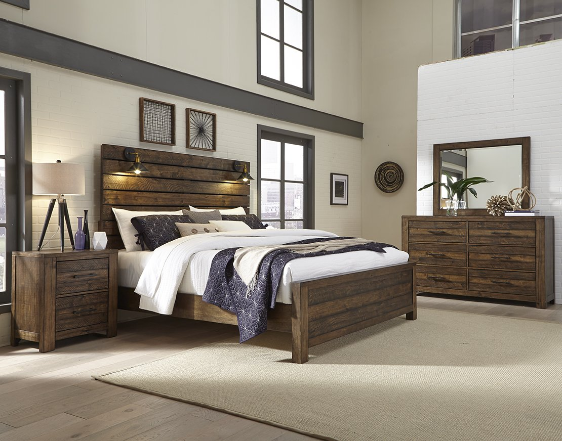 Dajono Rustic 6-Piece Bedroom Set-King Size,