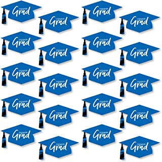 product image for Blue Grad - Best is Yet to Come - Graduation Hat Decorations DIY Royal Blue Graduation Large Party Essentials - 20 Count