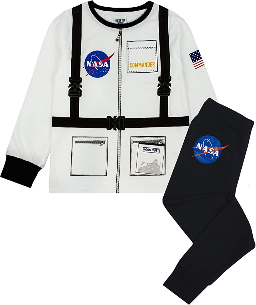 Nasa Conjunto de Pijama de Manga Larga para niño Astronauta algodón: Amazon.es: Ropa y accesorios