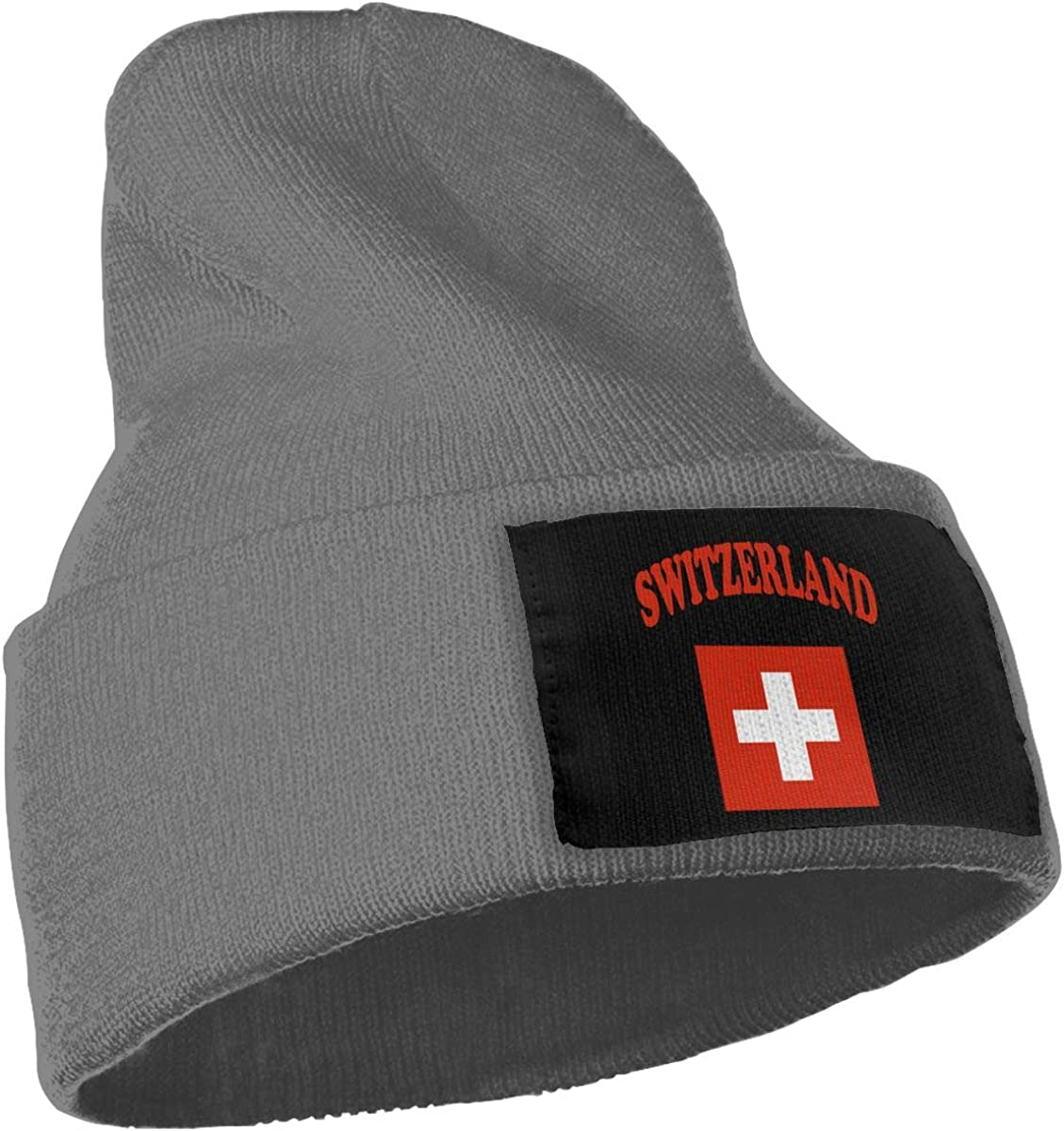 COLLJL-8 Men//Women Switzerland Flag Outdoor Fashion Knit Beanies Hat Soft Winter Skull Caps