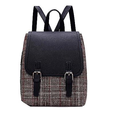 7f8a42c72f 2018 Fashion Backpacks Vintage Backpack Women Plaid Teenage Backpacks for  Girls School Bags