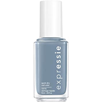 Amazon Com Essie Expressie Quick Dry Nail Polish Slate Blue 340 Air Dry 0 33 Ounces Beauty