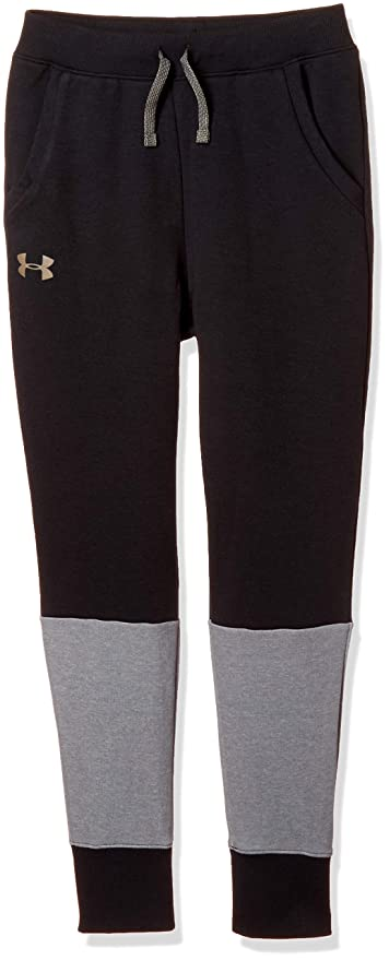7434eda039ea04 Under Armour Unstoppable Double Knit Jogger, Black//Silt Brown, Youth X-