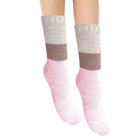 JHosiery Señoras angora & lana invierno cálido calcetines (1 par ...