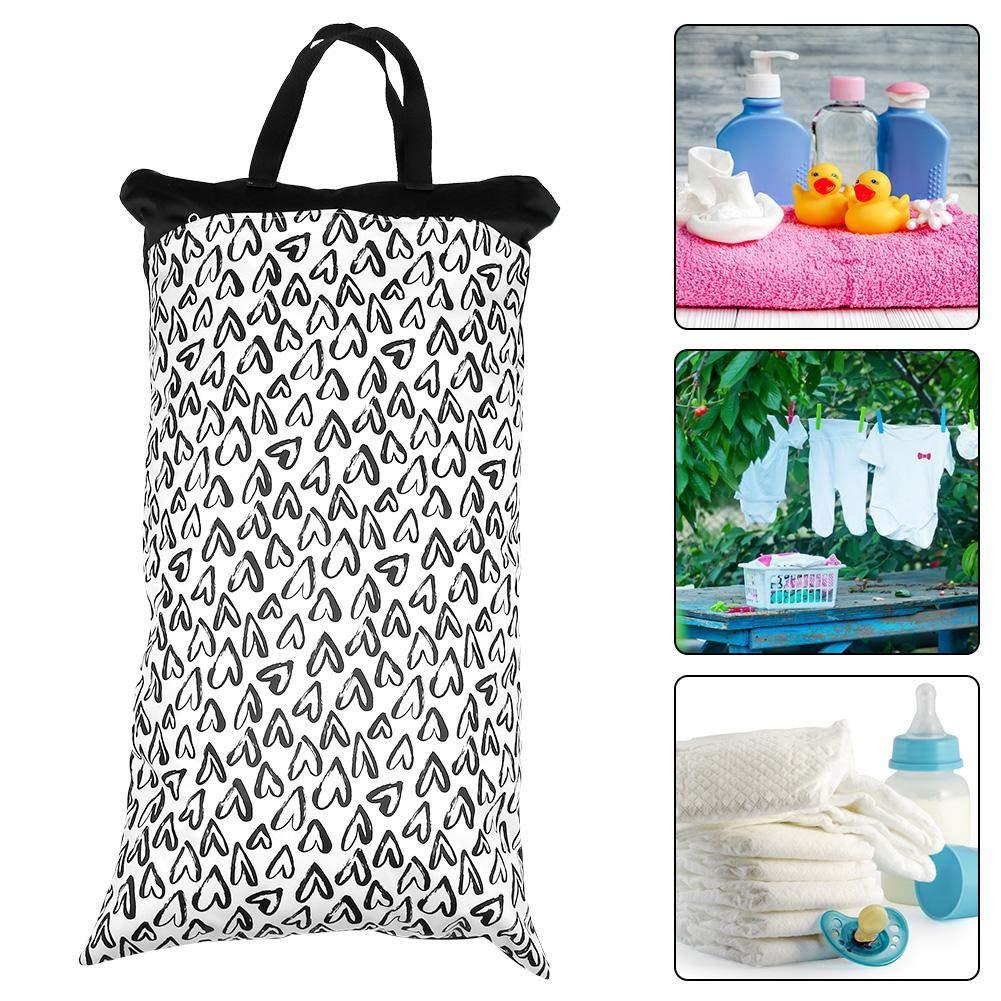 seca con pa/ñales h/úmedos la bolsa de pa/ñales de doble cremallera impermeable para beb/és Lavable 15.8 /× 27.6in bolsa de viaje Bolsa de pa/ñales de tela seca y h/úmeda para beb/és EF225
