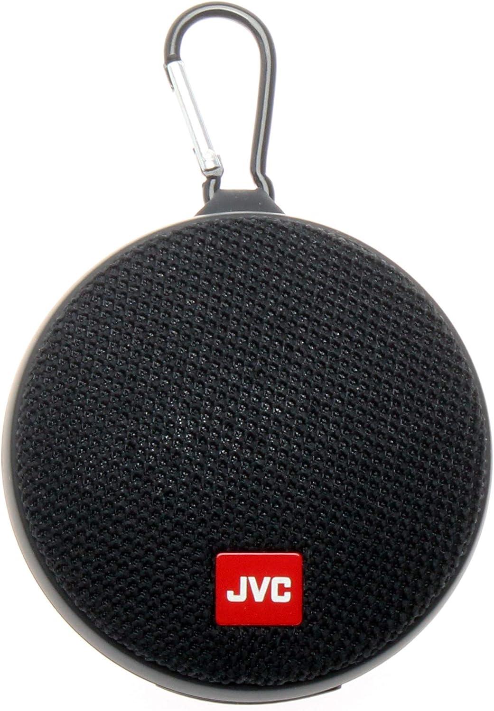 JVC Portable Wireless Speaker with Surround Sound, Bluetooth 110.10,  Waterproof IPX10, 10-Hour Battery Life - SPSA10BTB (Black)