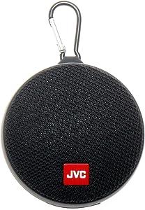 JVC Portable Wireless Speaker with Surround Sound, Bluetooth 5.0, Waterproof IPX4, 7-Hour Battery Life - SPSA2BTB (Black)