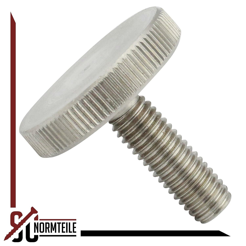 - DIN 653 R/ändelschrauben SC653 5 St/ück niedrige Form SC-Normteile/® - M8x30 - aus rostfreiem Edelstahl A1 VA -Niro