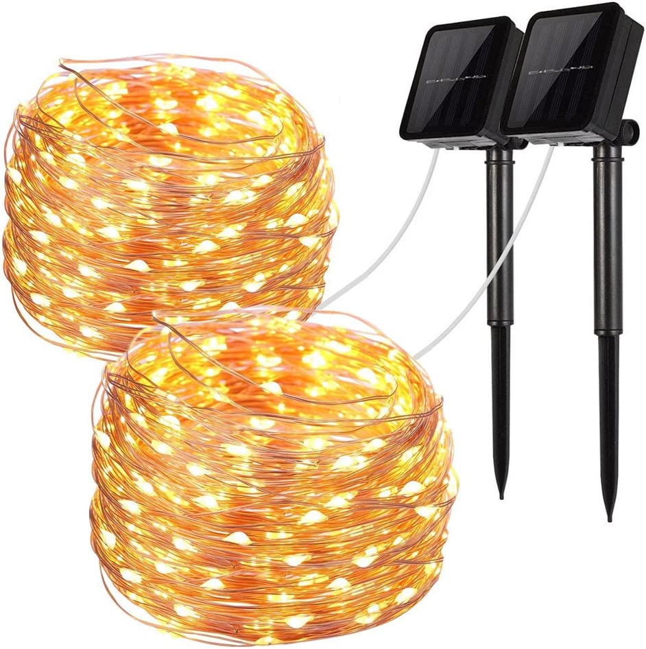 10-100M LED Fairy String Lights Mains Plug in//Solar//Battery Power Outdoor Indoor