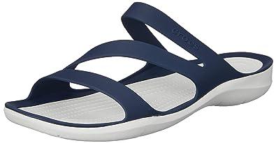 540b3713187aa Crocs Women's Swiftwater Sandal W Swiftwater Sandal W , Navy/White , 2 UK (