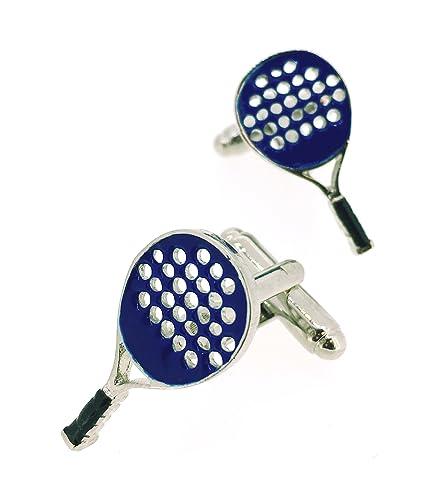 Gemelos para Camisa Pala Raqueta Padel Azul: Amazon.es: Joyería