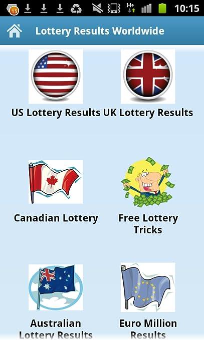Lottery Results Worldwide