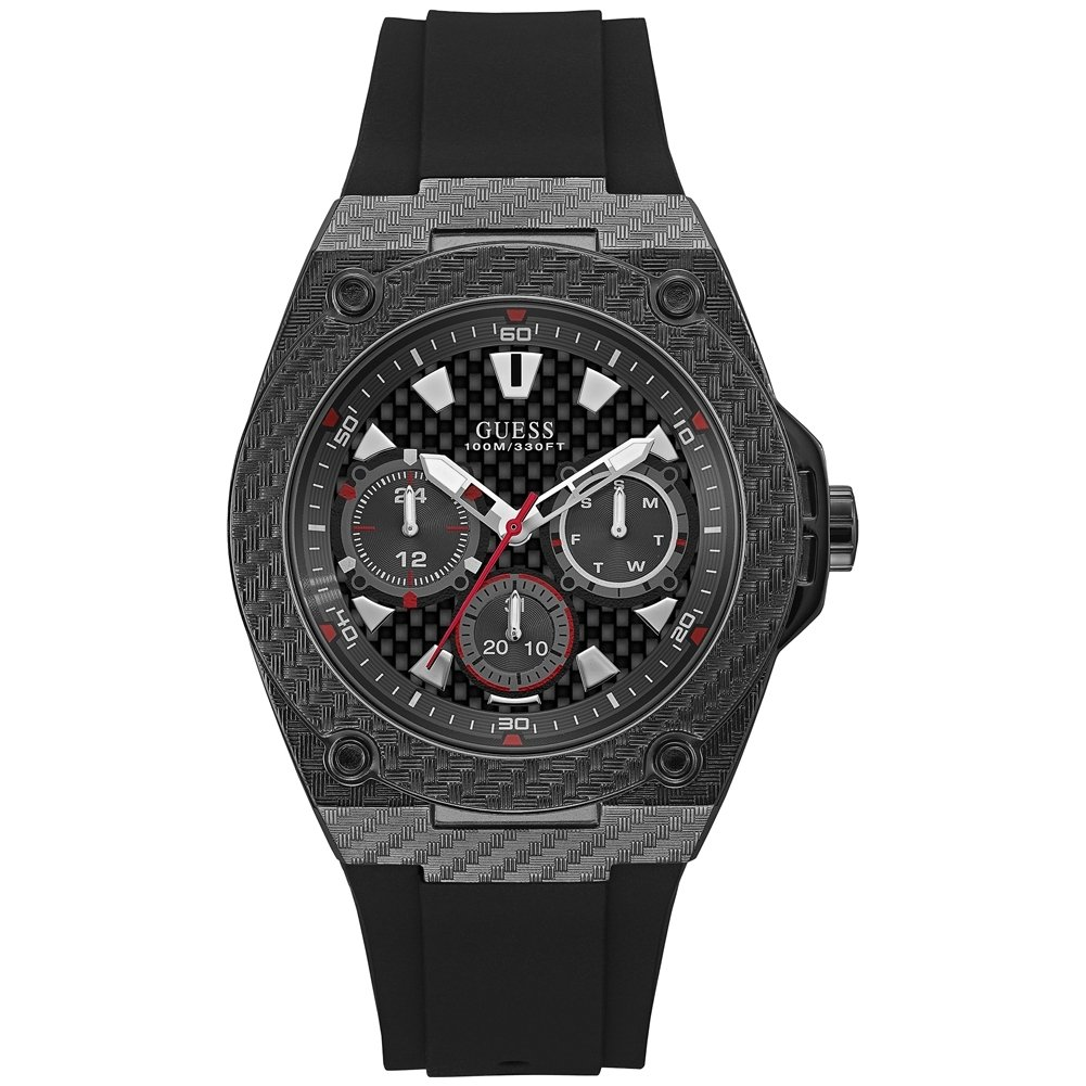 Amazon.com: Guess Legacy Black Dial Multi-function Mens Watch-W1048G2: Watches