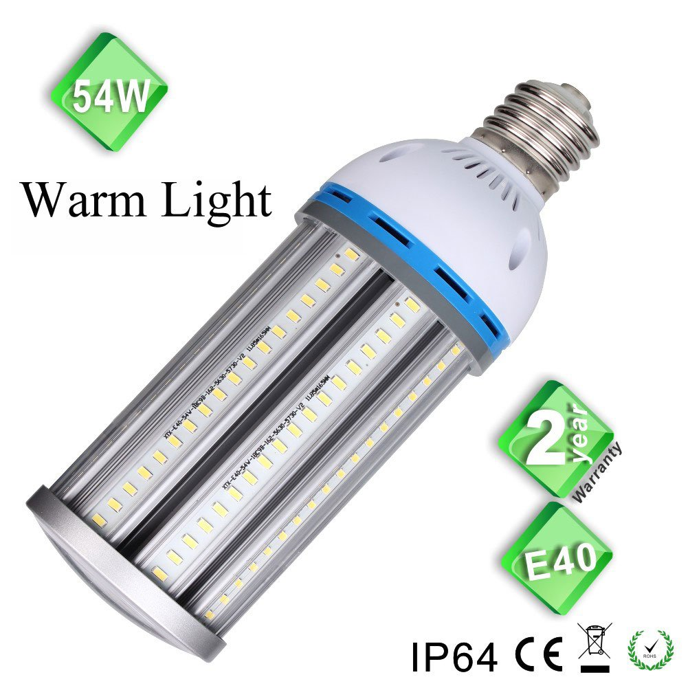 E40 Led Ma S Ampoule 54 W Super Bright Ampoule Blanc Chaud Ac220