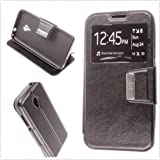 MISEMIYA - Case Cover for Alcatel U5 3G - Case Only, Cover VIEW Support, Black
