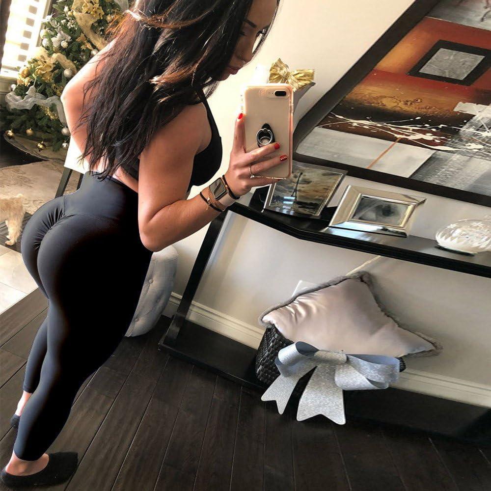 WKDYBD Women High Waist Yoga Pants Tummy Control Workout Running Legging Sports Fitness Tights Scrunch Butt Leggings