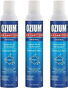 Ozium 8 Oz. Air Sanitizer & Odor Eliminator for Homes, Cars, Offices and More, Original Scent - 3 Pack
