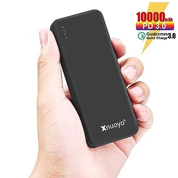 Xnuoyo PD 18W Power Bank Carga Rápida 3.0, 10000mAh Cargador Portátil Batería Externa de Entrada / Salida Tipo C Ultra-delgada Compatible con ...