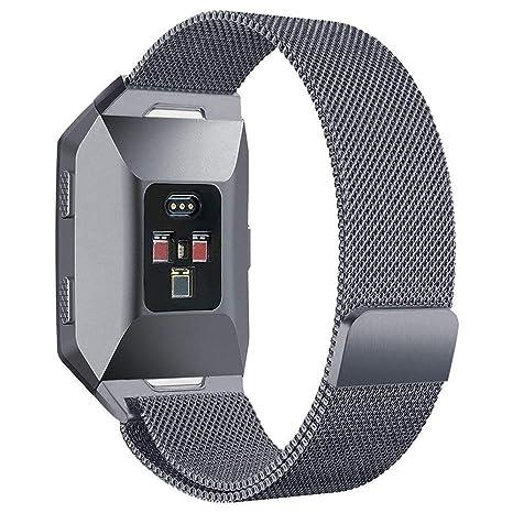 Fitbit Ionic reloj correa, PUGO TOP Milanese Loop imán ...