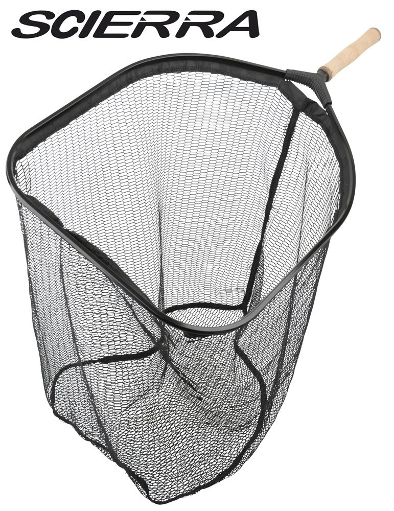 Scierra Kescher C&R Net L 50x38x50cm - Watkescher, Angelkescher zum Spinnfischen, Kescher fü r Meerforellen, Hechte