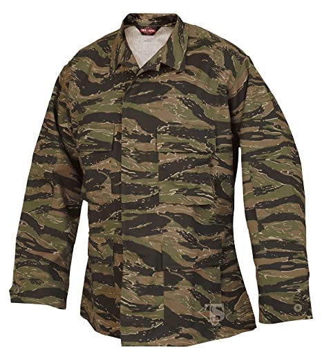 74437744194d4 Amazon.com: Atlanta Army Navy Tru-Spec BDU Coat CP Twill Vietnam Tiger  Stripe XL-Reg 1619006: Sports & Outdoors